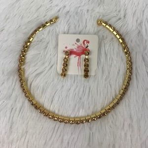 Toi Collection - Gold-Yellow necklace w/earrings